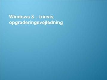 Windows 8-opgraderingsvejledning - Samsung