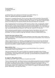 Læs pressemeddelelse som pdf. - Dania A/S