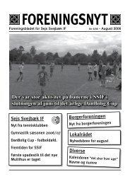 Foreningsnyt nr. 06/2006 - Sejs Svejbæk Idrætsforening