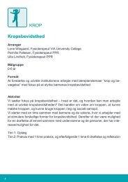 Kropsbevidsthed (pdf) - Viborg Kommune