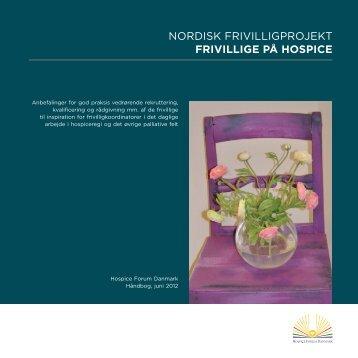 Frivillige på Hospice - Palliativt Videncenter