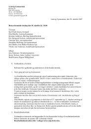 Referat af bestyrelsesmøde den 10.10.2007 - Lemvig Gymnasium