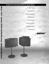 901® Direct/Reflecting® højttalere - Bose
