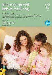 Information ved køb af forsikring - If Skadeforsikring