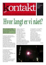 'Kontakt' for december 2007 - januar 2008. - Hjørring Baptistkirke