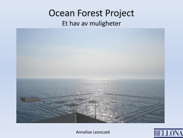 Ocean Forest Project - akvARENA