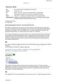 Rasmussen, Bente Page 1 of 2 24-04-2013 BILAG A - Miljøstyrelsen