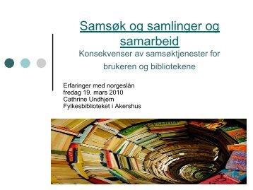 Samsøk og samlinger og samarbeid - Bibsys