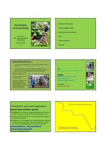 Bæredygtigt landskabsdesign ByhaveNetværket er… - FAGUS
