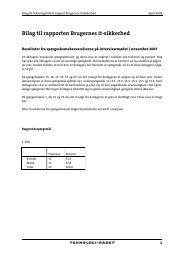 Bilag til rapporten Brugernes it-sikkerhed - Teknologirådet