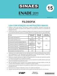 Enade - Filosofia 2011 - Inep