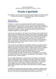 """""""Oração à Igualdade"""". Revista Metrópole - Tiago Duque"""