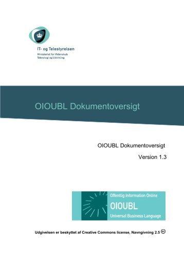 OIOUBL Dokumentoversigt