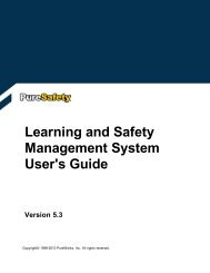 Learning and Safety Management System User's Guide