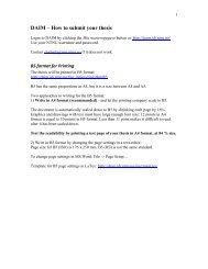 How to submit your thesis - DAIM * Introduksjon til DAIM - NTNU