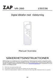 Digital diktafon med röststyrning ... - Manualer