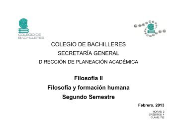 Filosofía II - Colegio de Bachilleres