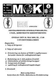 Nr. XXVIII EKSTRAORDINÆR GENERALFORSAMLING I ... - MOK