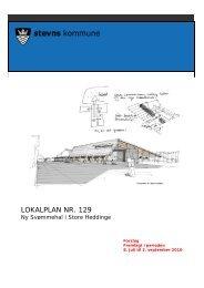 Forslag til Lokalplan nr. 129 for Ny Svømmehal i Store ... - 16-12-2009