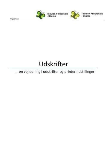 Udskrifter - Tabulex