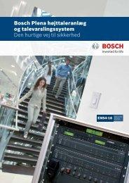 Bosch Plena højttaleranlæg og talevarslingssystem Den hurtige vej ...