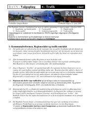 RAVN - Valgoplæg 6 - Trafik - Radikale Venstre