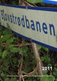 Formandens beretning på Blovstrødbanens generalforsamling den ...