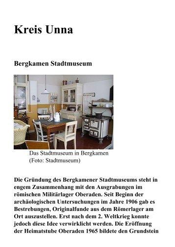 Kreis Unna Bergkamen Stadtmuseum - Ruhr 2010 | Barrierefrei