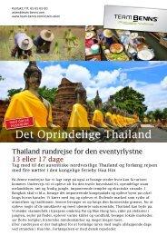 Det oprindelige thailand PDF - Team Benns