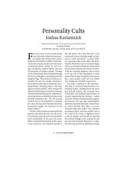Personality Cults - Carnegie Endowment for International Peace