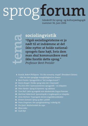 sociolingvistik - Aarhus Universitetsforlag