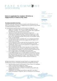Notat om Netto i Dalby - Faxe Kommune