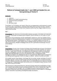 Referat af lodsejermøde den 1. juni 2005 på Hodde Kro om ...