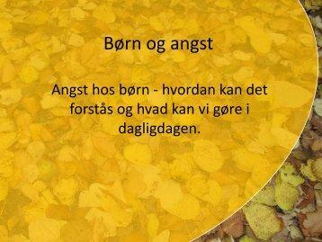 Angst hos børn - Region Sjælland