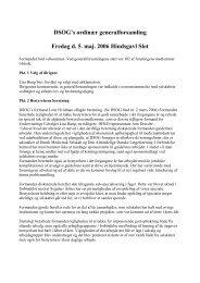 Referat ordinær generalforsamling, 5. maj 2006 - DSOG