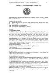 Møde den 9. marts 2011 - Akademiraadet