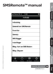 SMSRemote™ er en applikation til smartphones til let ...