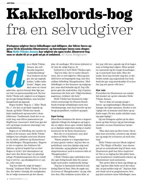 F O R FA TTER EN - Dansk Forfatterforening