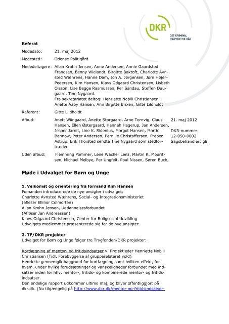 DKR Referat 21. maj. 2012