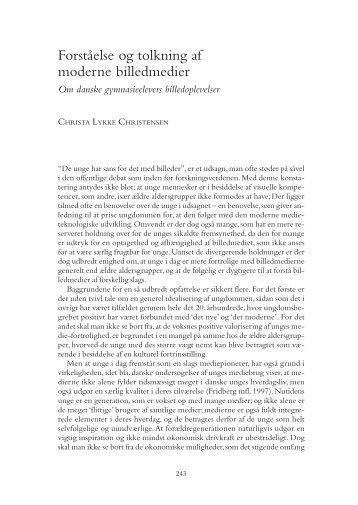 Forståelse og tolkning af moderne billedmedier - Nordicom