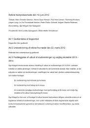 Referat bestyrelsesmøde den 19. juni 2012 Ad 1 Godkendelse af ...