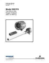 5081FG 2-Wire In Situ O2 Analyzer - Emerson Process Management