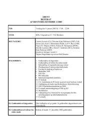 Bestyrelses referat nr.1, 2003