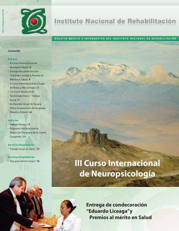 III Curso Internacional de Neuropsicología - Instituto Nacional de ...
