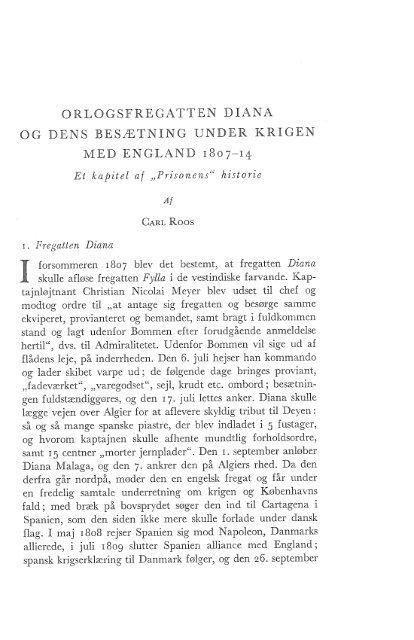 orlogsfregatten diana og dens besætning under krigen med england ...