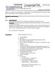 Referat 2009 - Velkommen til Vesterled Grundejerforening