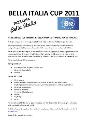 Hjælp til Bella Italia Cup 2011