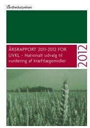 Årsrapport 2011-2012 for - Sundhedsstyrelsen