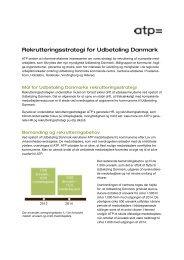 Rekrutteringsstrategi for Udbetaling Danmark - ATP
