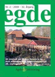 EGDE nr 2 - 2008 - Agder Historielag